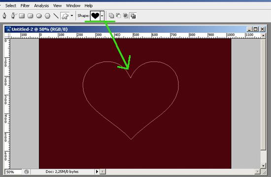 Как сделать сердце в фотошопе 986