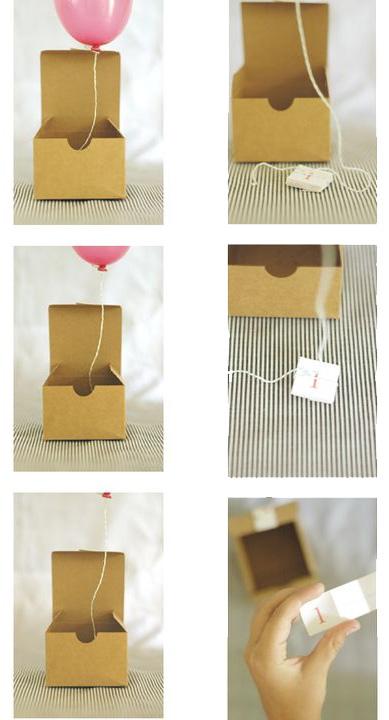 Как украсить подарок внутри 25