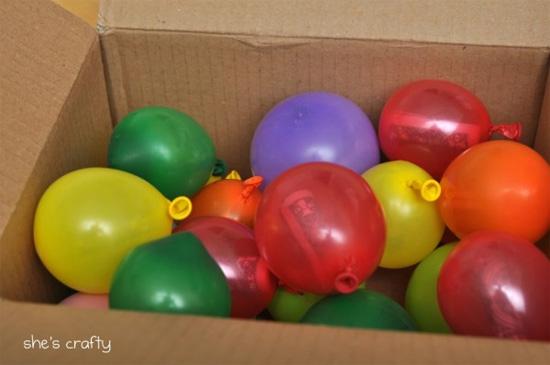 дарим деньги в воздушных шарах на день рождения