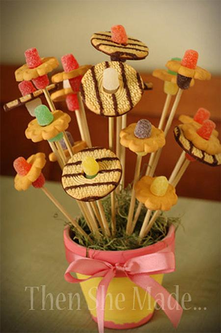 Букет из мармелада и печенья, свадебный букет запорожье