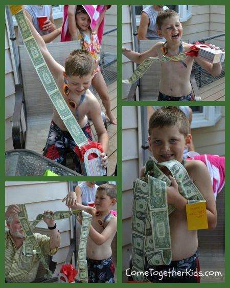 лента из денег в коробочке - вот как это выглядит