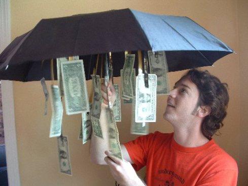 дарим денежный дождь под зантиком