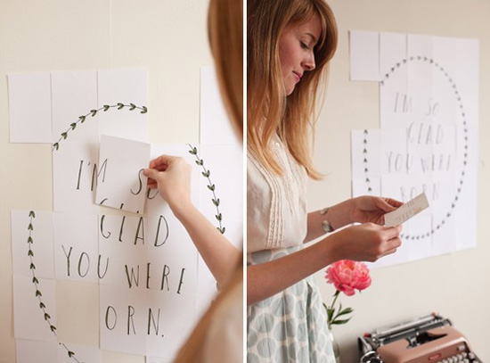 идея оформления подарка на14 февраля, на день валентина создать поздравление из 30 открыток