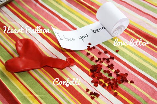 идея оформления подарка на 14 февраля, на день валентина - дарим подарок и поздравление внутри воздушного шара