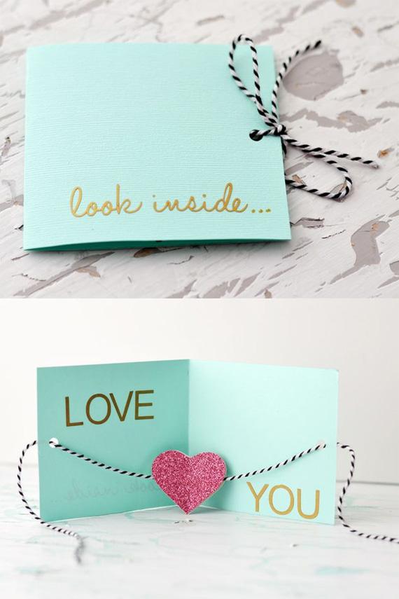 Как сделать открытку я люблю тебя