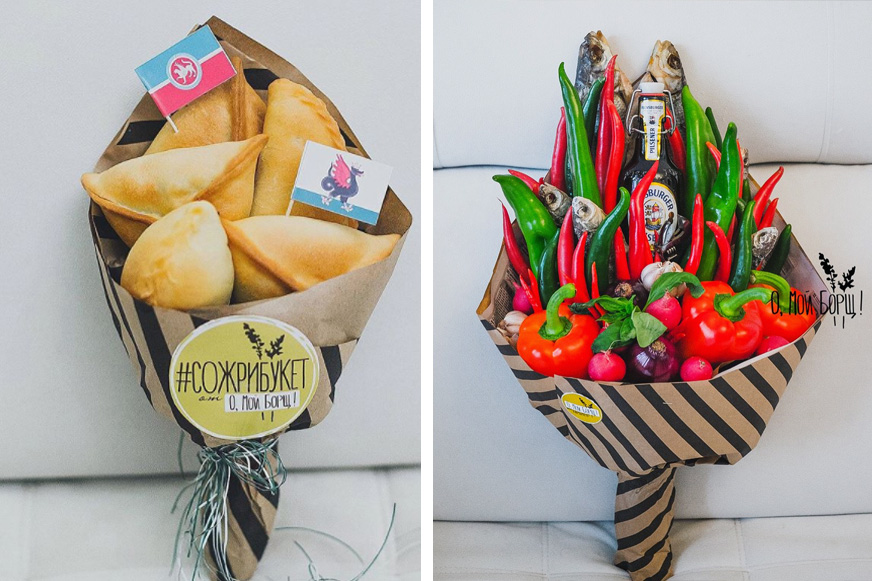 букет из пирожков, букет из перца для любимого мужчины, необычые потрясающие букеты для мужчин